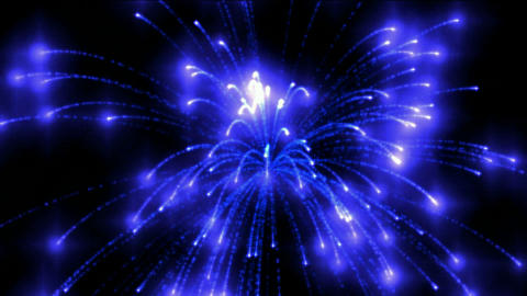 blue fireworks at night,holiday and Wedding Animation