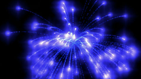 blue fireworks at night,holiday and Wedding Stock Video Footage