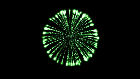 green circle fireworks at night,holiday and Wedding Stock Video Footage