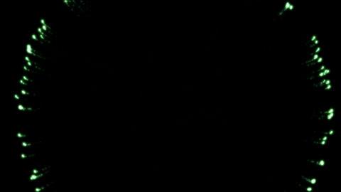 green circle fireworks at night,holiday and Wedding Animation