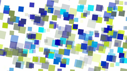 blue square papers & mosaic debris background Animation