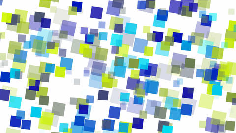 blue square papers & mosaic debris background Stock Video Footage