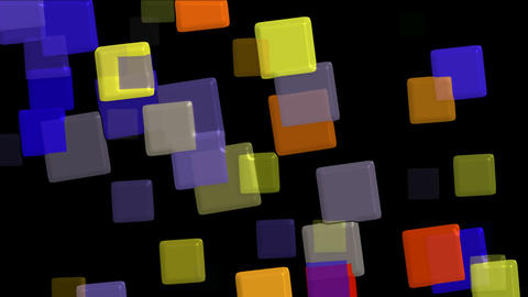 plastic color square papers & mosaic debris background Stock Video Footage