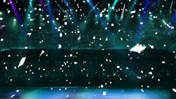 concert blue light confetti Animation