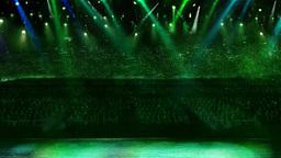 concert green light confetti Stock Video Footage