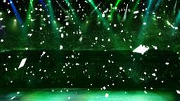 concert green light confetti Animation