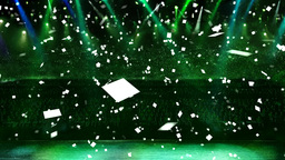 concert green light confetti Stock Video Footage