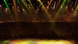 concert yellow spotlight Stock Video Footage