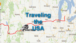 U.S. Map Travel Animation with Car Icon Animation