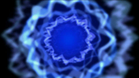 Rotating blue circle light,Time tunnel,powerful... Stock Video Footage