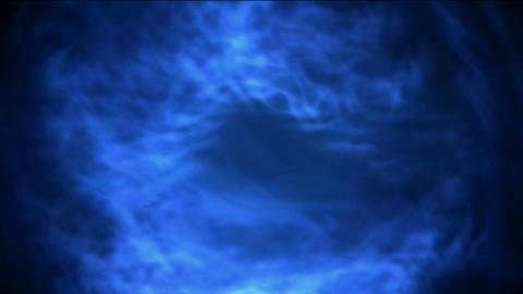 Rotating blue circle light,powerful... Stock Video Footage
