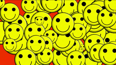 Emoticon Animation:yellow smile... Stock Video Footage
