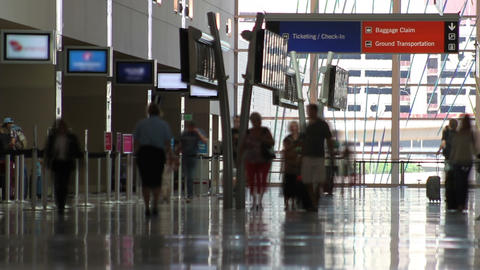 Aiport People Time Lapse Footage