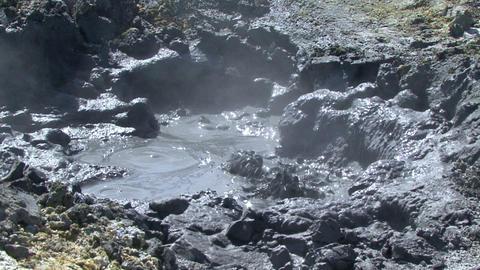 Kamchatka. Mud geyser valley Mutnovsky volcano Footage