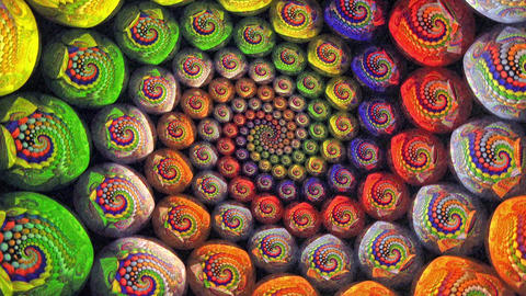 Colorful Fractal Universe Funnel Animation Background Footage