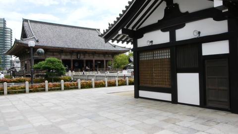 pov temple shitennoji osaka japan 15 Footage
