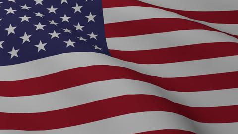 USA flag png Animación