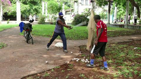 Seniors Old Elderly Friends People Cuban Men Training Baseball Cuba Footage