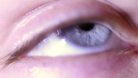 The human eye, macro Footage