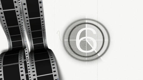 Film Countdown stock footage