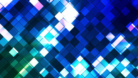 Broadcast Twinkling Squared Diamonds, Blue, Abstract, Loopable, HD Animation