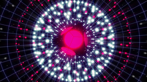 Pink Energy Sphere 4 K VJ Loop Animation