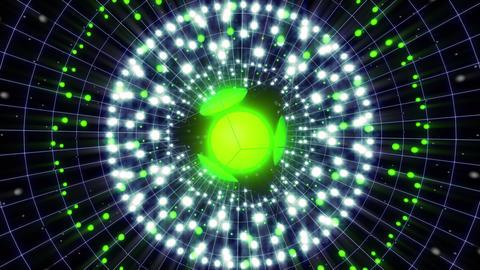 Green Energy Sphere 4 K VJ Loop stock footage