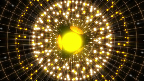 Yellow Energy Sphere 4 K VJ Loop Animation