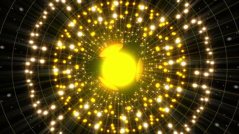 Yellow Energy Sphere VJ Loop Animation
