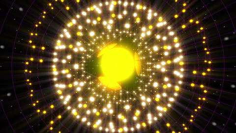 Yellow Energy Sphere VJ Loop 2 Animation