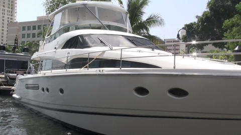 Luxury yatch at Florida Footage