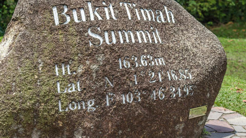 Bukit Timah Summit stock footage