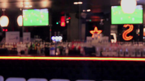 Blurred Bar View stock footage