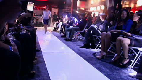 Female model catwalk Footage