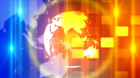 Global Spinning News Opener 1 – Loopable Background Stock Video Footage
