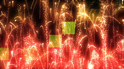 Grunge Fireworks 1 Animation