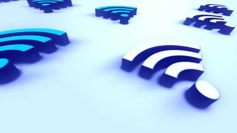 Mobile Technology Sign Wifi stock footage