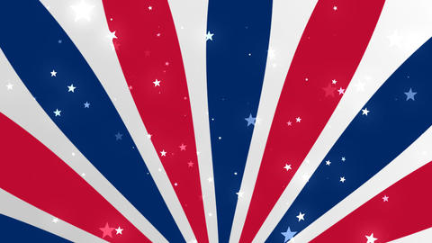 US Patriotic Stars and Stripes 2 Bg 1– Loopable Background Animation