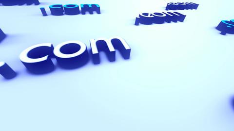 Web Technology Sign dotcom Stock Video Footage