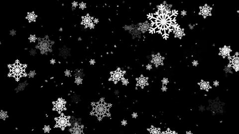 Winter Snow and Snow Flakes 1 Animation