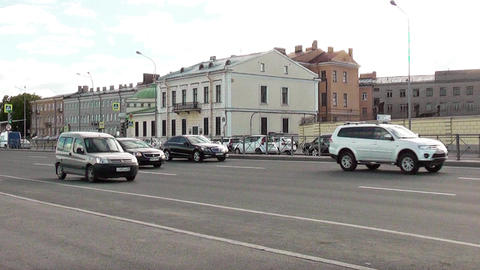 St. Petersburg, Russia, July 11: The traffic on city streets July 11, 2015, in S Footage