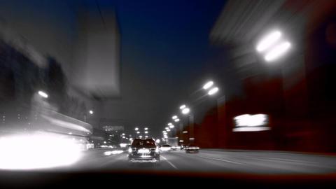 Night ride in Kiev, Ukraine Footage
