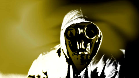 Man in gas mask Footage