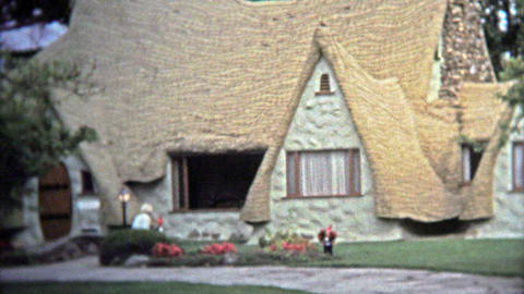 VICTORIA, BC - 1972: Old Country Settler House Tourist Attraction In British Col stock footage
