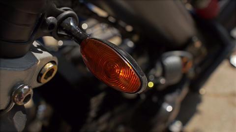 Motorbike blinking turn signal Footage