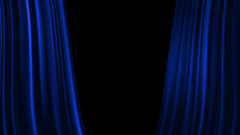 Blue Curtains Open with Spotlights plus Alpha Luma Matte Animation