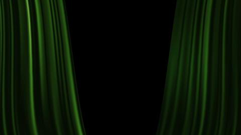 Curtains Open with Spotlights plus Alpha Luma Matte Stock Video Footage