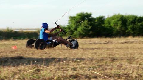 Unidentified kitebuggy rider Footage