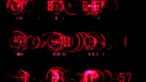 Spin Numbers Colored stock footage