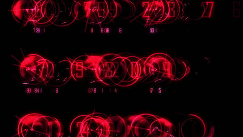 spin numbers colored Stock Video Footage